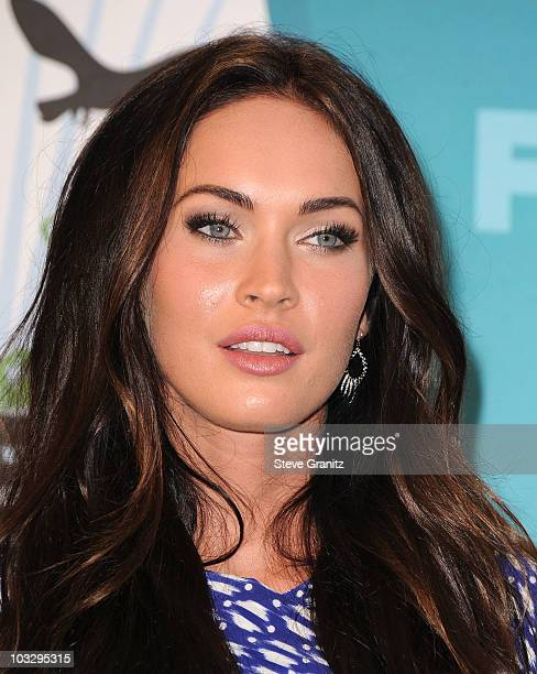 Actress Megan Fox poses in press room during the 2010 Teen Choice Awards at Gibson Amphitheatre on August 8 2010 in Universal City California