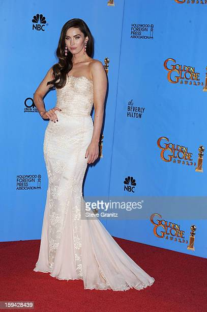 Actress Megan Fox poses in the press room at the 70th Annual Golden Globe Awards held at The Beverly Hilton Hotel on January 13 2013 in Beverly Hills...
