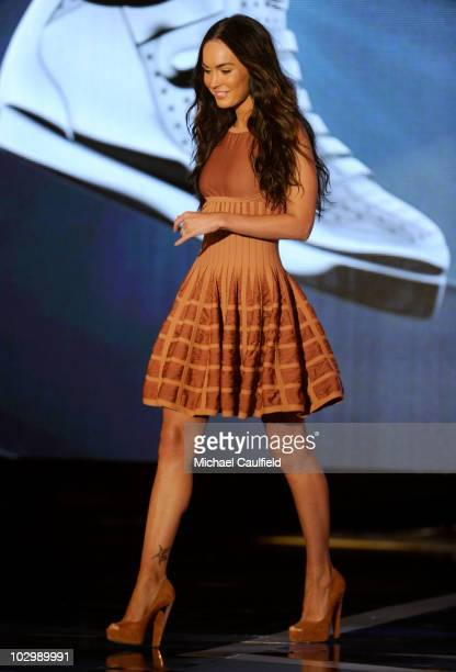 Actress Megan Fox speaks onstage at the 2010 VH1 Do Something Awards held at the Hollywood Palladium on July 19 2010 in Hollywood California