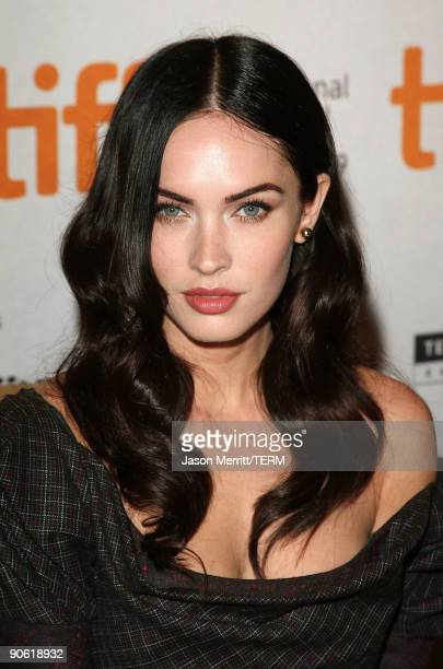 Actress Megan Fox speaks onstage at the 'Jennifer's Body' press conference held at the Sutton Place Hotel on September 11 2009 in Toronto Canada