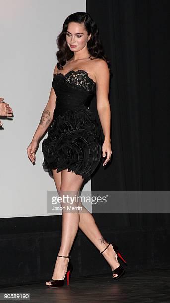 Actress Megan Fox walks onstage at the Toronto International Film Festival Midnight Madness screening Jennifer's Body film introductions held at the...