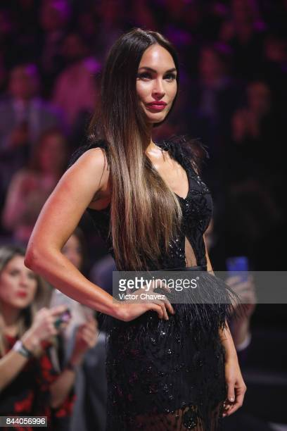 Actress Megan Fox walks the runway during the Liverpool Fashion Fest Autumn/Winter at Fronton Mexico on September 7 2017 in Mexico City Mexico