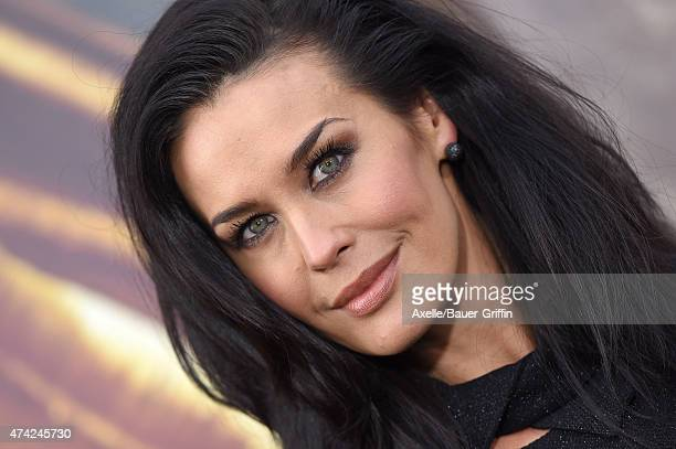Actress Megan Gale arrives at the Los Angeles premiere of 'Mad Max: Fury Road' at TCL Chinese Theatre IMAX on May 7, 2015 in Hollywood, California.