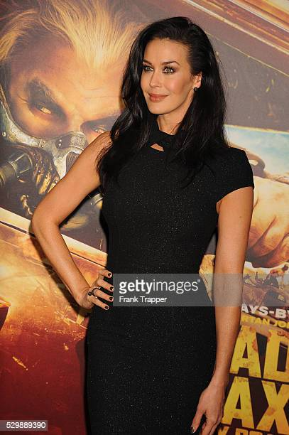 """Actress Megan Gale arrives at the premiere of """"Mad Max: Fury Road"""" held at the TCL Chinese Theater in Hollywood."""