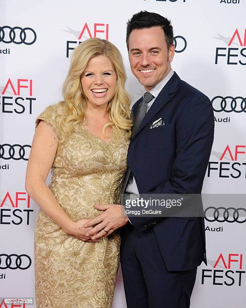 Actress Megan Hilty and husband Brian Gallagher arrive at AFI FEST 2016 Presented By Audi Opening Night Premiere Of 20th Century Fox's Rules Don't...