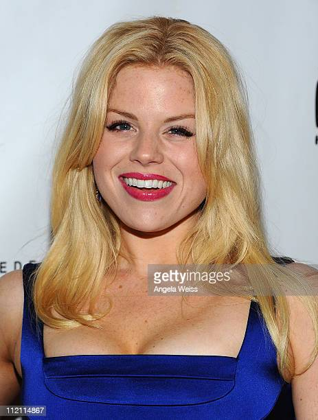 Actress Megan Hilty arrives at the opening night of 'Rain A Tribute To The Beatles' at the Pantages Theatre on April 12 2011 in Hollywood California
