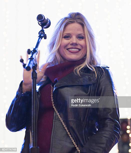Actress Megan Hilty at The New Beverly Hills Holiday Lighting Celebration on November 20 2016 in Beverly Hills California