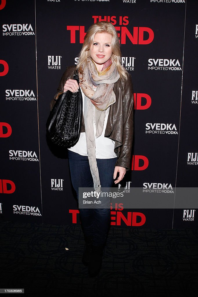 Actress Megan Hilty attends a special New York screening of Columbia Pictures' 'This Is The End' presented by FIJI water on June 10, 2013 in New York City.