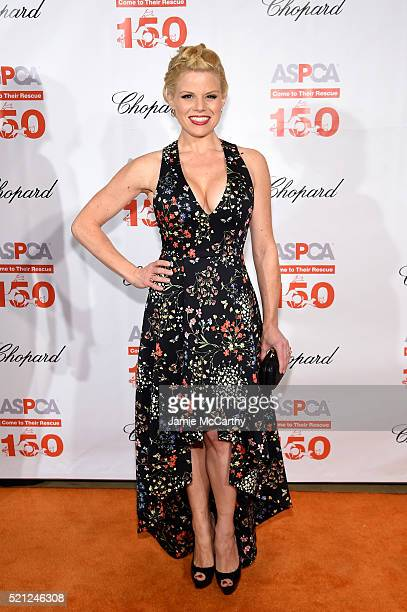 Actress Megan Hilty attends ASPCA 19th Annual Bergh Ball honoring Drew Barrymore hosted by Nathan Lane wiith music by Mark Ronson at the Plaza Hotel...