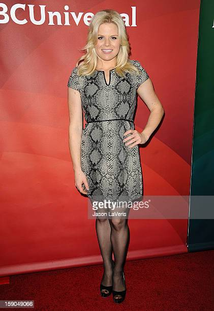 Actress Megan Hilty attends the 2013 NBC TCA Winter Press Tour at The Langham Huntington Hotel and Spa on January 6 2013 in Pasadena California