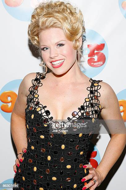 Actress Megan Hilty attends the 9 to 5 The Musical Broadway opening night party at the Marriott Marquis on April 30 2009 in New York City