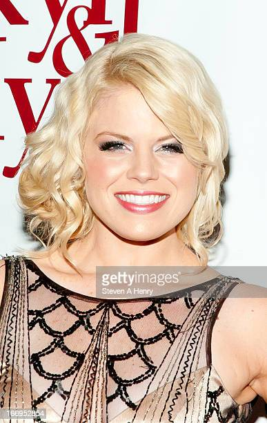 """Actress Megan Hilty attends the Broadway opening night of """"Jekyll & Hyde The Musical"""" at the Marquis Theatre on April 18, 2013 in New York City."""