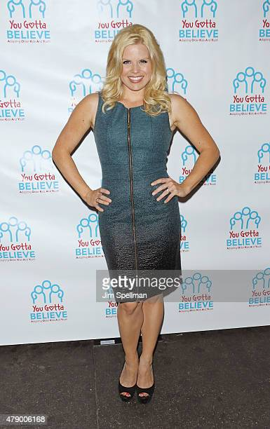 Actress Megan Hilty attends the 'Voices For The Voiceless Stars For Foster Kids' event at the St James Theater on June 29 2015 in New York City