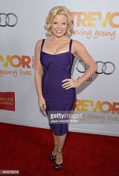 Actress Megan Hilty attends TrevorLIVE LA honoring Jane Lynch and Toyota for the Trevor Project at Hollywood Palladium on December 8 2013 in...