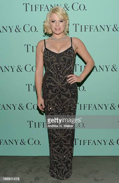 Actress Megan Hilty is wearing Diamonds from the Tiffany Co 2013 Blue Book Collection as she attends the Tiffany Co Blue Book Ball at Rockefeller...