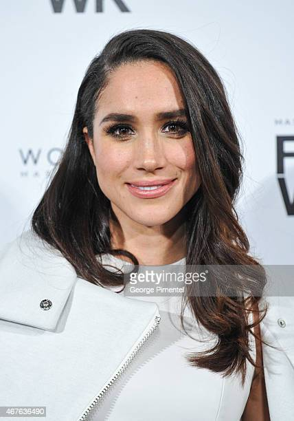 Actress Megan Markle attends World MasterCard Fashion Week Fall 2015 Collections Day 3 at David Pecaut Square on March 25, 2015 in Toronto, Canada.