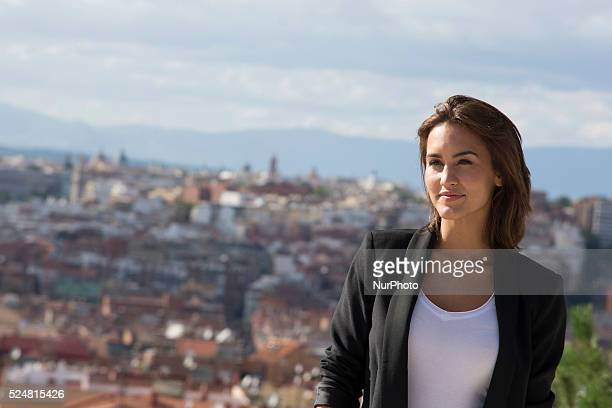 Actress Megan Montaner attends 'Dioses y perros' filming meeting with the press at Las Tetas Park on October 4 2013 in Madrid SpainPhoto Oscar...