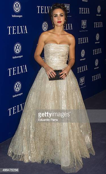 Actress Megan Montaner attends 'T de Moda' awards by Telva Magazine photocall at Royal theatre on December 1 2015 in Madrid Spain