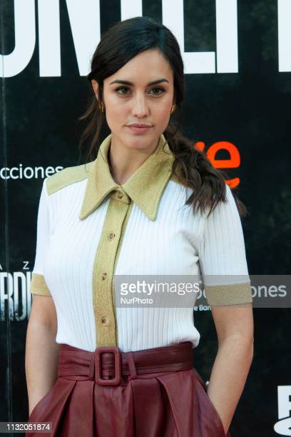Actress Megan Montaner attends the 'La Caza Monteperdido' photocall on March 22 2019 in Madrid Spain