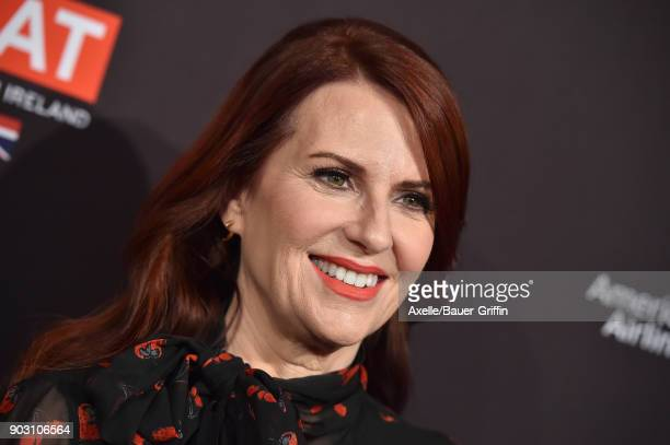 Actress Megan Mullally arrives at The BAFTA Los Angeles Tea Party at Four Seasons Hotel Los Angeles at Beverly Hills on January 6 2018 in Los Angeles...