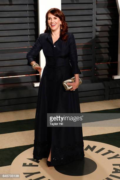 Actress Megan Mullally attends 2017 Vanity Fair Oscar Party Hosted By Graydon Carter at Wallis Annenberg Center for the Performing Arts on February...