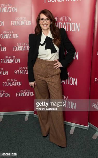 Actress Megan Mullally attends SAGAFTRA Foundation Conversations screening of 'Will And Grace' at SAGAFTRA Foundation Screening Room on November 27...