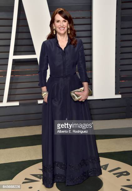Actress Megan Mullally attends the 2017 Vanity Fair Oscar Party hosted by Graydon Carter at Wallis Annenberg Center for the Performing Arts on...