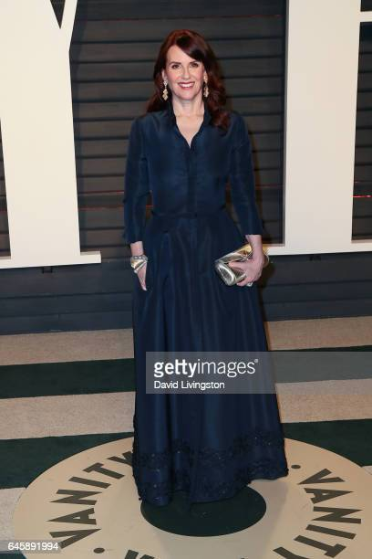 Actress Megan Mullally attends the 2017 Vanity Fair Oscar Party hosted by Graydon Carter at the Wallis Annenberg Center for the Performing Arts on...