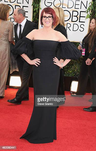 Actress Megan Mullally attends the 71st Annual Golden Globe Awards held at The Beverly Hilton Hotel on January 12 2014 in Beverly Hills California