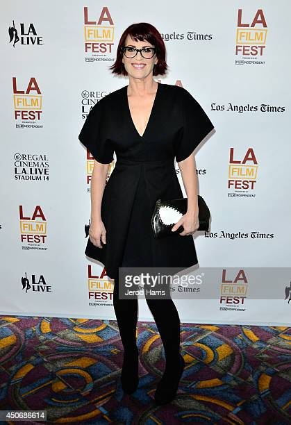 """Actress Megan Mullally attends the premiere of """"Trouble Dolls"""" during the 2014 Los Angeles Film Festival at Regal Cinemas L.A. Live on June 15, 2014..."""