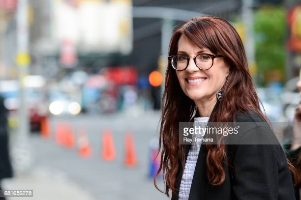 Actress Megan Mullally enters the 'The Late Show With Stephen Colbert' taping at the Ed Sullivan Theater on May 10 2017 in New York City