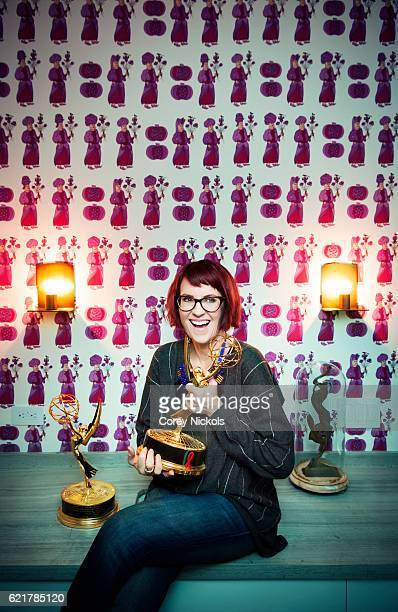 Actress Megan Mullally is photographed for Emmy Magazine on January 29 2014 in Beverly Hills California