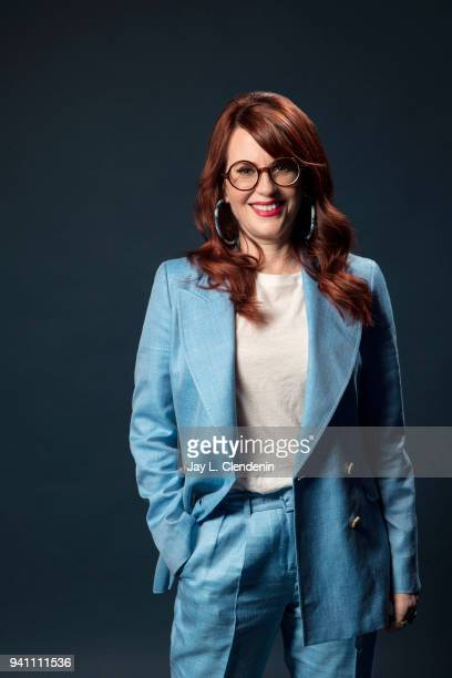 Actress Megan Mullally of 'Will and Grace' is photographed for Los Angeles Times on March 17 2018 at the PaleyFest at the Dolby Theatre in Hollywood...