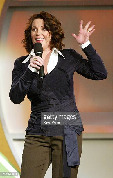 Actress Megan Mullally on stage at the 20th IFP Independent Spirit Awards in a tent on the beach on February 26 2005 in Santa Monica California