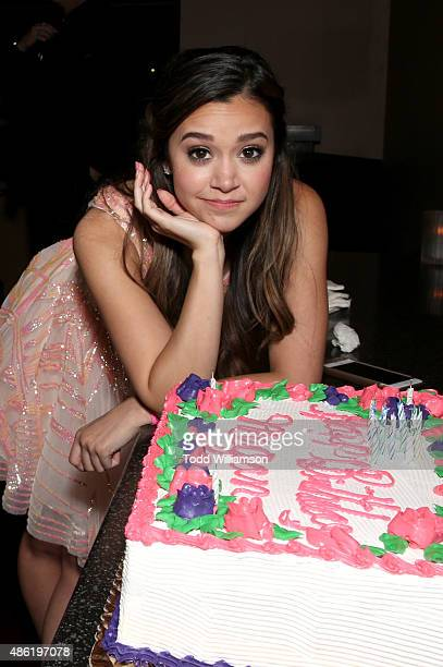 Actress Megan Nicole celebrates her birthday at the SUMMER FOREVER Premiere on September 1 2015 in Los Angeles California