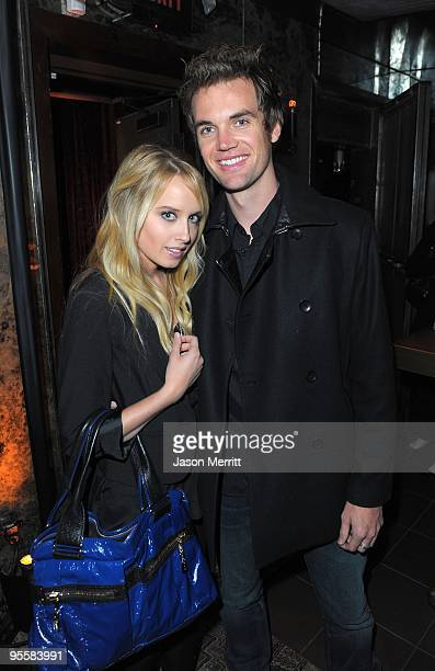 Actress Megan Park and musician Tyler Hilton at the Swag Suite during US Weekly's Hot Hollywood 2009 party at Voyeur on November 18 2009 in West...
