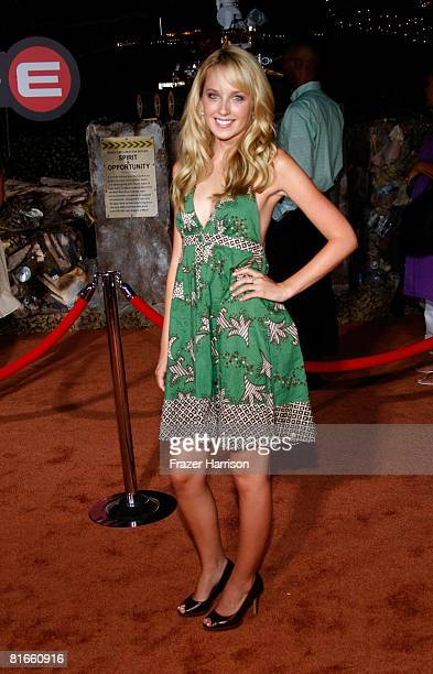 Actress Megan Park arrives at the World Premiere of DisneyPixar's WallE on June 212008 at the Greek Theatre in Los Angeles California