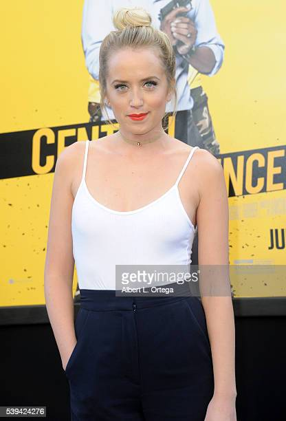 Actress Megan Park arrives for the Premiere Of Warner Bros Pictures' Central Intelligence held at Westwood Village Theatre on June 10 2016 in...