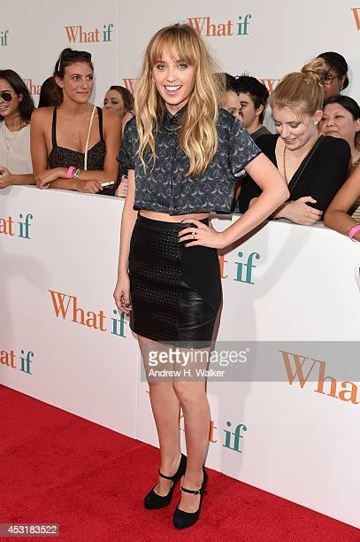 Actress Megan Park attends the What If New York fan screening at Regal EWalk 13 on August 4 2014 in New York City