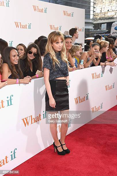 Actress Megan Park attends the What If New York Premiere at Regal EWalk 13 on August 4 2014 in New York City