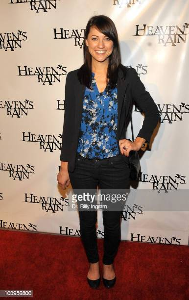 Actress Megan Paul arrives at the 'Heaven's Rain' Los Angeles Premiere at ArcLight Cinemas on September 9 2010 in Hollywood California