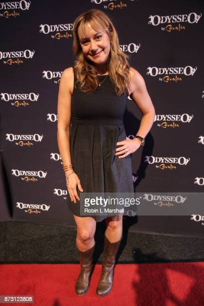 Actress Megan Price and daughter Grace attend Cavalia Odysseo Celebrity Premiere on November 11 2017 in Camarillo California