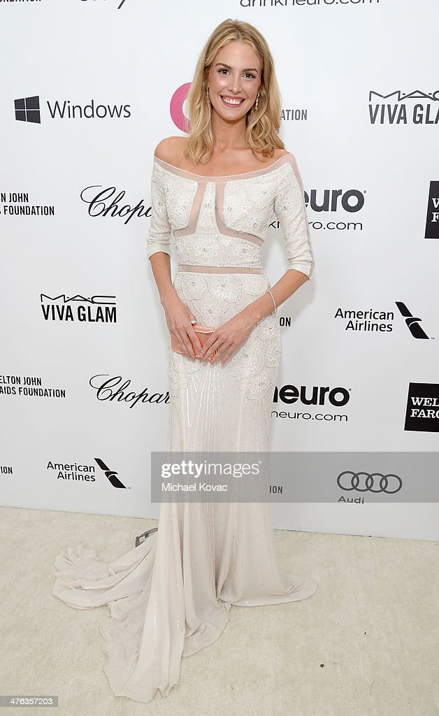 Actress Meghan Flather attends the 22nd Annual Elton John AIDS Foundation Academy Awards Viewing Party at The City of West Hollywood Park on March 2, 2014 in West Hollywood, California.