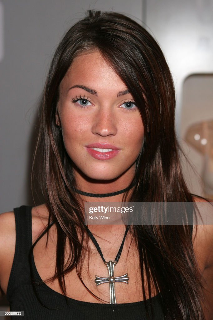 Actress Meghan Fox in the Gap Body booth on day 4 of Olympus Fashion Week Spring 2006 at Bryant Park September 12, 2005 in New York City.