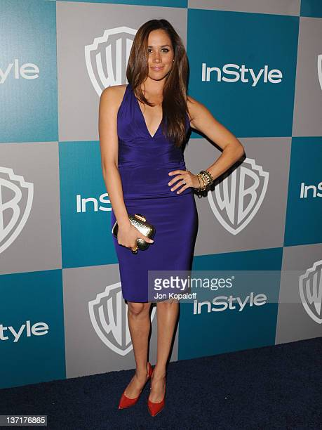 Actress Meghan Markle arrives at the 13th Annual Warner Bros And InStyle Golden Globe After Party held at The Beverly Hilton hotel on January 15 2012...