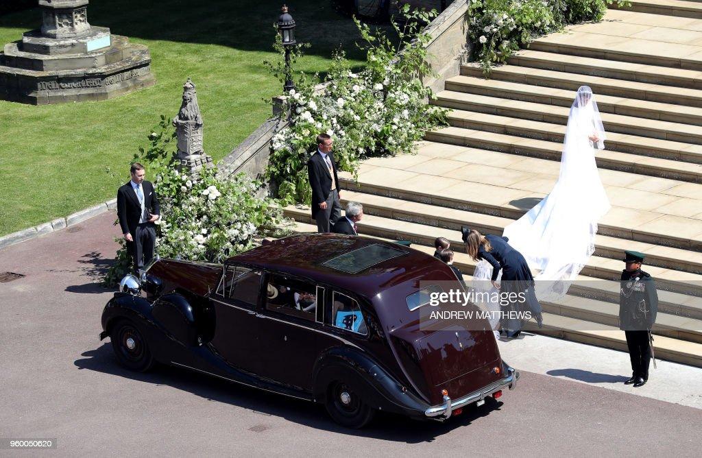 BRITAIN-US-ROYALS-WEDDING-CEREMONY : Foto di attualità