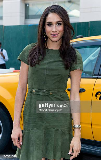 Actress Meghan Markle attends 2014 MercedesBenz Fashion Week during day 7 on September 11 2013 in New York City