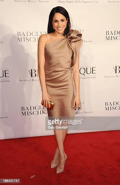 Actress Meghan Markle attends American Ballet Theatre 2013 Opening Night Fall Gala at David Koch Theatre at Lincoln Center on October 30 2013 in New...