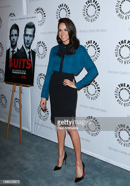 Actress Meghan Markle attends an evening with Suits at The Paley Center for Media on January 14 2013 in Beverly Hills California