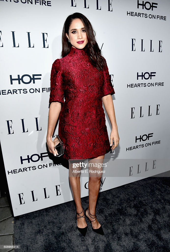 ELLE's 6th Annual Women In Television Dinner Presented By Hearts on Fire Diamonds And Olay - Red Carpet : News Photo